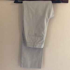 Lands End high rise khaki pants, size 28